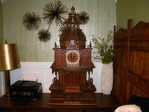 WOW! Beautiful Asian Inspired Carved Clock ONE OF A KIND in Camp Lejeune, North Carolina