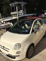 2012 FIAT 500C Lounge edition white with red convertible top red leather seats in Kingwood, Texas