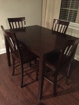 Solid wood kitchen table and High bar chairs in Camp Lejeune, North Carolina