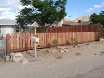 ****Wood Fence Construction**** in Yucca Valley, California