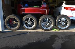 TSW Cadwell 18x8 wheels Yokohama S-drive 245-45-18 tires (Lowered price) in St. Charles, Illinois
