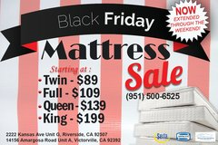 MATTRESS SALE!!!!! 100 DAYS SAME AS CASH!!!! in Fort Irwin, California