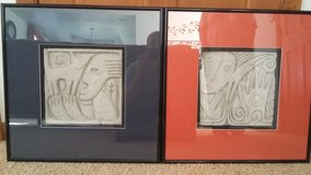 LIMITED EDITIONS RALPH PRATA SCULPTURAL CONCRETE WALL HANGINGS $150/$250.00 FOR BOTH in DeKalb, Illinois