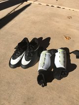 Boys Nike soccer cleats and shin guards in Oceanside, California