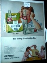Original Diet-Rite Cola Vintage Circa 1960's in Fort Campbell, Kentucky