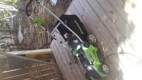 Electric lawnmower in 29 Palms, California