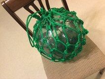 "40"" GREEN GLASS FLOAT BALL KANJI MARKED FF VINTAGE - (unavailable after 12/8) in Okinawa, Japan"