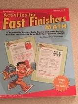 Math Activities for Fast Finishers Grades 4-8 in Okinawa, Japan