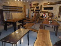 Vintage Barnwood Hand Crafted Pieces. Mantels Benches Reclaimed Wonderful Wood! in DeKalb, Illinois