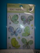 NEW! K&Company Butterfly/Flower Glitter Paisley Grand Adhesions in Glendale Heights, Illinois