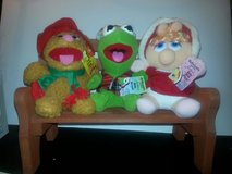 NWT! McDonalds Vintage Christmas Muppet Babies: Kermit, Fozzie, Miss Piggy Plush-1988 in Bartlett, Illinois