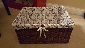 Brown Wicker Basket with liner in Bartlett, Illinois