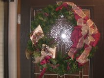 Christmas wreath in Naperville, Illinois