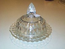 Clear Dome Butter Dish With Lid in Macon, Georgia