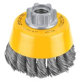 DEWALT 3-Inch by 5/8-Inch-11 Knotted Cup Brush/Carbon Steel .020-Inch in Naperville, Illinois