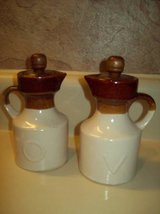 Stoneware Oil and Vinegar Bottle Set With Stoppers in Warner Robins, Georgia