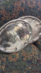 Silver serving platter in Fort Polk, Louisiana