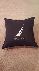 Nautica Navy Throw Pillow Cover in St. Charles, Illinois