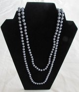 J27 Necklace Blue-Gray Continuous Strand Faux Pearls in Ramstein, Germany