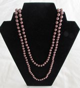 J29 Faux Pearls Necklace Chocolate Brown Continuous Strand in Ramstein, Germany