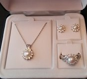 Pearl and white sapphire 3 pc set in Columbia, South Carolina