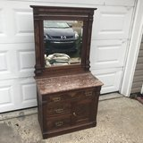 Antique Walnut Burl Victorian Wash Stand in Cherry Point, North Carolina