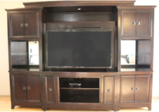 Large Wooden Entertainment Center in Travis AFB, California