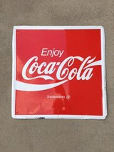 Vintage Coca-cola tin sign in Fort Bragg, North Carolina