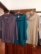 Three Cozy Tunics- women's size Large in Bolling AFB, DC