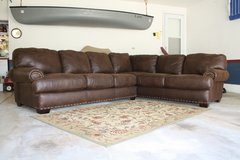 New Large Brown Faux Leather Sectional Couch in Chicago, Illinois