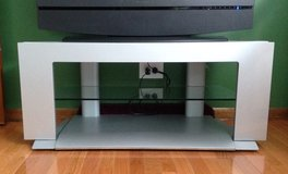 Silver/Grey flat screen tv stand in Bolingbrook, Illinois