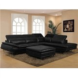 Black sectional in St. Louis, Missouri