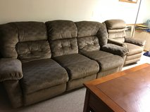 sofa and arm chair with recliner from Vicks Furniture in Elgin, Illinois