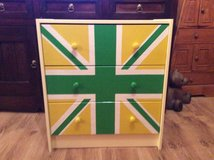 Union Jack Chest of Drawers / Dresser (Yellow/Green) in Lakenheath, UK