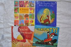 Four hardcover childrens books in great condition. From smoke free home in Fort Carson, Colorado