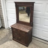 Walnut Burl Victorian Wash Stand in Cherry Point, North Carolina