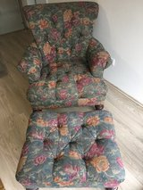 Floral arm chair & ottoman in Ramstein, Germany