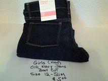 Girls OLD NAVY Jeans  (New) Size 12 Slim in Livingston, Texas