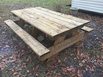 Massive wood picnic table (6 x 8 ft) in Camp Lejeune, North Carolina