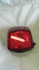 Harley Davidson VRSCA tail light in Travis AFB, California
