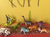 Lot of Dinosaurs and lions toys for children in Morris, Illinois