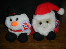 Vintage Limited Edition Ho Ho Santa and Flurry Snowman Puffkins Christmas Gifts in Kingwood, Texas