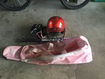 Girls softball equip.  Easton bag,Rawlings glove,Rawlings helmet,worth bat. in Morris, Illinois