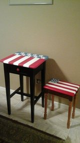 Americana Primitive Hand Painted Side/End Tables in Bolingbrook, Illinois