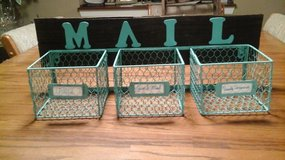 Antique Upcycled  Wall Mounted Barnwood Mail Organizer/Sorter/Letter Rack in Bolingbrook, Illinois