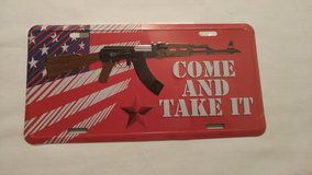 Come & Take It License Plate in Lake of the Ozarks, Missouri