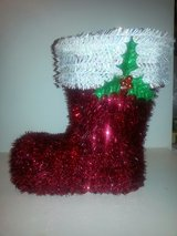 NEW!  TINSEL SANTA BOOT BY CELEBRATE IT! in Glendale Heights, Illinois