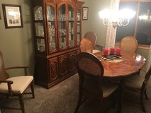 Dining room table, chairs and china cabinet in Bartlett, Illinois
