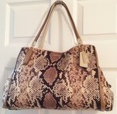 REAL COACH CLOTH SNAKESKIN-LIKE PATTERN PURSE, LIKE NEW in Lakenheath, UK