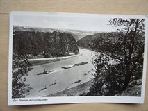 1936 German Postcard of the Rhein River at the Loreley Cliff in Mannheim, GE